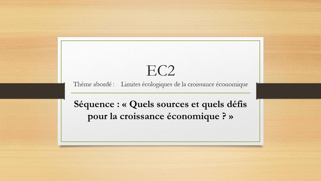 EC2 SES Limites écologiques et croissance