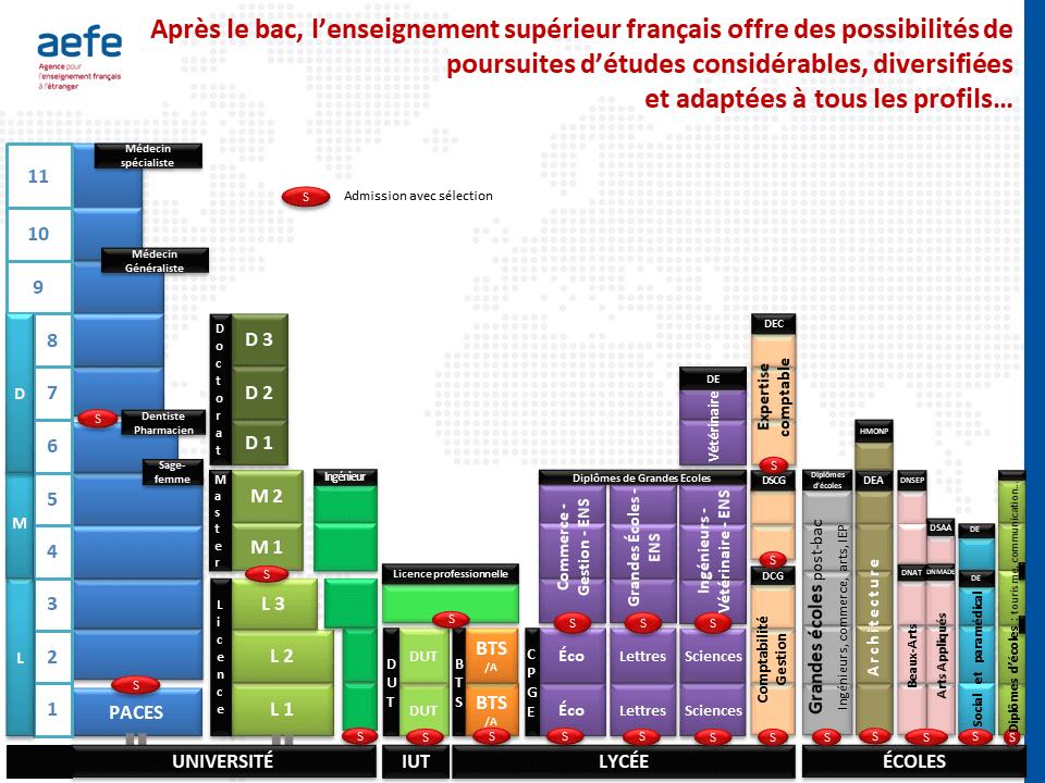 L'organisation de l'enseignement supérieur en France